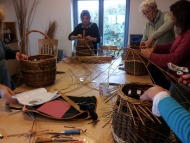 Making baskets in the Studio.