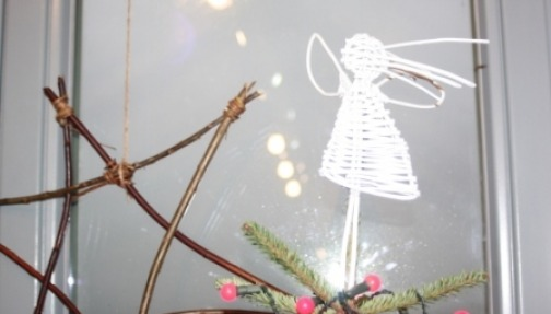 Hand made willow decorations