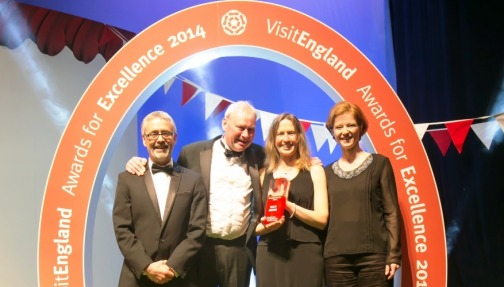 Winning Gold at Visit England Awards for Excellence 2014
