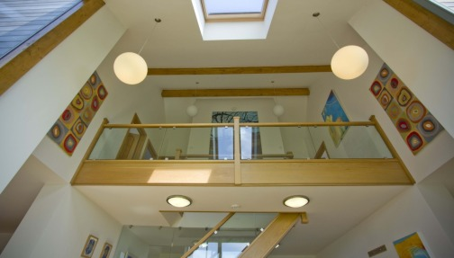 Oak and glass staircases