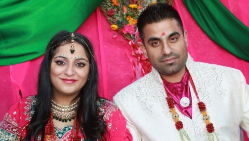 Payal and Ash create their own unique wedding