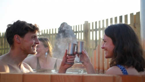 Celebrate in our romantic hot tub